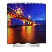 Light Bridge Shower Curtain