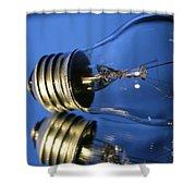 Light Bulb - Blue Shower Curtain