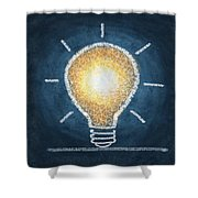 Light Bulb Design Shower Curtain by Setsiri Silapasuwanchai