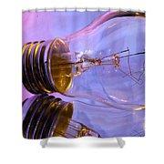Light Bulb - Multi Color Shower Curtain