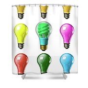 Light Bulbs Of A Different Color Shower Curtain