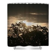 Light Chasing Away The Darkness Shower Curtain