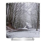 Light Dusting Of Snow Shower Curtain