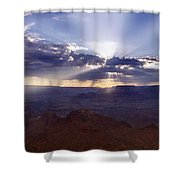 Light Explosion Shower Curtain