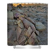 Light Fading On Valley Of Fire Shower Curtain