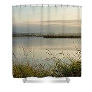 Light Falling Softly On The Marsh Shower Curtain