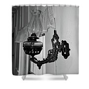 Light From The Past B W Shower Curtain