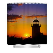 Light House At Fort Casey Washington Shower Curtain