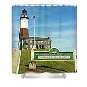 Light House At Montauk Point Shower Curtain