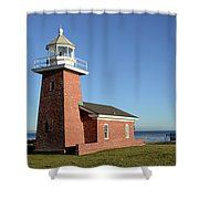 Light House At Santa Cruz Shower Curtain