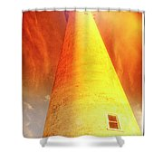 Light House At Sunset, Cape May, Nj Shower Curtain