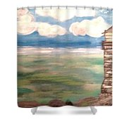 Light House By The Sea Shower Curtain