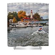 Light House Mississauga Shower Curtain