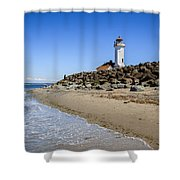 Light House - Port Townsend, Wa Shower Curtain