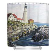 Light House Shower Curtain