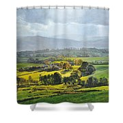 Light In The Valley At Rhug. Shower Curtain