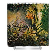 Light In The Wood  Shower Curtain
