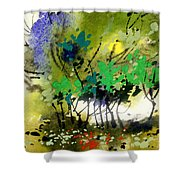 Light In Trees Shower Curtain