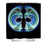 Light Mask Shower Curtain
