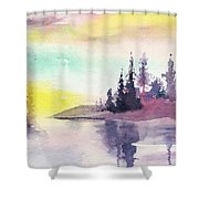 Light N River Shower Curtain