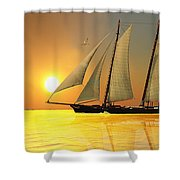 Light Of Life Shower Curtain by Corey Ford