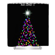 Light Of The World Christmas Card Shower Curtain