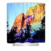 Light On Cliffs Shower Curtain