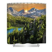 Light On Mack Lake Shower Curtain