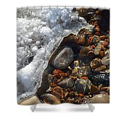 Light On Rocks And Ice  Shower Curtain