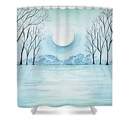 Light On The Field Shower Curtain