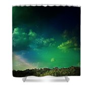 Light On The Forest Shower Curtain