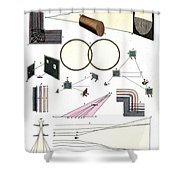 Light Optics, Reflection & Refraction Shower Curtain