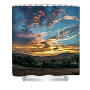 Light Over Hollenbeck Shower Curtain