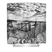 Light Over The Dunes Shower Curtain