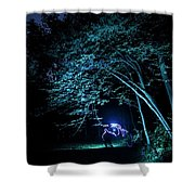 Light Painted Arched Tree  Shower Curtain
