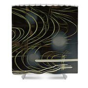 Light Painting Energy Shower Curtain