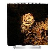 Light Peeks Through - Cave Shower Curtain