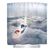 Light Play Angels Descent Shower Curtain by Nikki Marie Smith