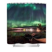 Light Pollution Shower Curtain