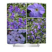 Light Purple Flowers Collage Shower Curtain