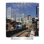 Light Rail In Charlotte Shower Curtain