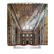 Light Rays In St Peter's, Rome Shower Curtain