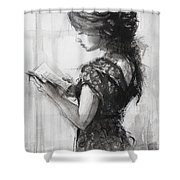 Light Reading  Shower Curtain