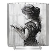 Light Reading  Shower Curtain