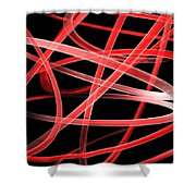 Light Red Shower Curtain