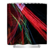 Light Ribbons Shower Curtain
