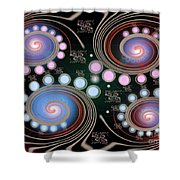 Light Rotate On Spiral Orbit Shower Curtain