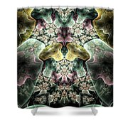 Light Scatterings Shower Curtain