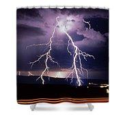 Light Show 001 Shower Curtain