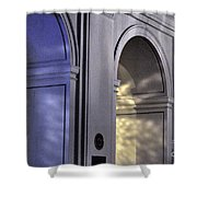 Light Splattered Arches Shower Curtain